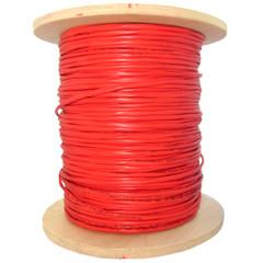 Multimode Duplex Fiber Optic 62.5/125 2 Fiber Indoor Distribution Fiber Optic Cable, Multimode, 62.5/125, Orange, Riser Rated, Spool, 1000 foot