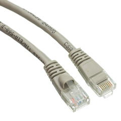 CAT 5 E Network Cables Cat5e Gray Ethernet Patch Cable, Snagless/Molded Boot, 50 foot