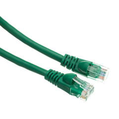 CAT 5 E Network Cables Cat5e Green Ethernet Patch Cable, Snagless/Molded Boot, 4 foot