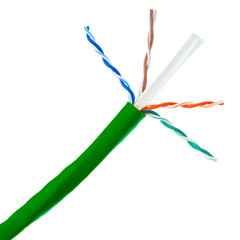 CAT-6 Cable Bulk Bulk Cat6 Green Ethernet Cable, Stranded, UTP (Unshielded Twisted Pair), Pullbox, 1000 foot
