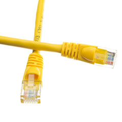 CAT 6 Cable Cat6 Yellow Ethernet Patch Cable, Snagless/Molded Boot, 14 foot