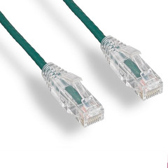 Cat6 Slim Patch Cables Cat6 Green Slim Ethernet Patch Cable, Snagless/Molded Boot, 5 foot