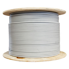 CAT-6A Cable Bulk Bulk Cat6a Gray Ethernet Cable, Stranded, UTP (Unshielded Twisted Pair), Spool, 1000 foot
