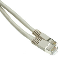Cat 6A Cables Shielded Cat6a Gray Ethernet Patch Cable, Snagless/Molded Boot, 500 MHz, 15 foot
