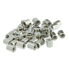 Computer Adaptors Hex Nut, # 4 - 40, 100 Pieces, 5.0mm