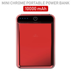 iPhone/iPad Accessories 2 port Power bank 10000 mAh USB Battery Backup, includes Micro USB cable, Red.