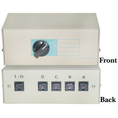Switch Boxes ABCD 4-Way Switch Box, RJ45 Female