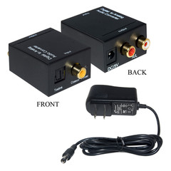 Digital converters Digital to Analog Audio Converter, Powered, Digital Coaxial or Toslink to Dual RCA Female (Analog)