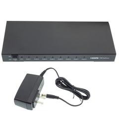 HDMI Switch 4k HDMI Splitter, 1 HDMI Female Input x 8 HDMI Female Output, 1x8