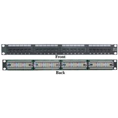 Patch Panel Rackmount 24 Port Cat6 Patch Panel, Horizontal, 110 Type, 568A & 568B Compatible, 1U