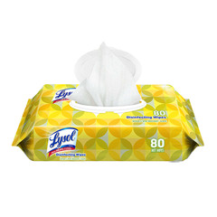 Disinfectant Wipes Case of 6 - Lysol Disinfecting Wipes, 7 x 8, Lemon, 80 Wipes/Pack