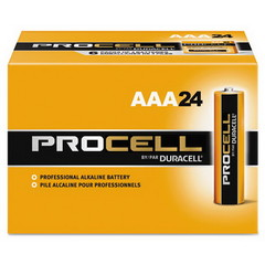Batteries Duracell Procell Industrial Grade Alkaline Batteries, AAA, PC2400BKD, 24/Box