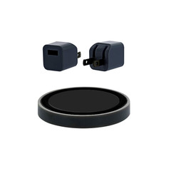 iPhone/iPad Accessories Wireless Charger(Wall Plug + USB Cable + Charge Puck), Black