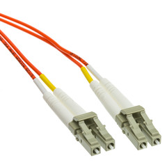 Multimode Duplex Fiber Optic 62.5/125 Plenum LC/LC OM1 Multimode Duplex Fiber Optic Cable, 62.5/125, 1 meter (3.3 foot)