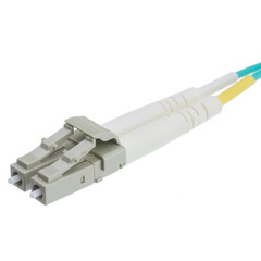 Multimode Aqua 10 Gig Fiber Optic 50/125 10 Gigabit Aqua LC/LC OM3 Multimode Duplex Fiber Optic Cable, 50/125, 6 meter (19.6 foot)
