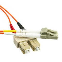 Multimode Duplex Fiber Optic 62.5/125 LC/SC OM1 Multimode Duplex Fiber Optic Cable, 62.5/125, 2 meter (6.6 foot)