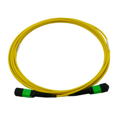 Multimode Duplex Fiber Optic 50/125 Plenum Fiber Optic Cable, MTP / MTP (MPO), Singlemode, Duplex, 12 Strand, 40/100 Gbps, 9/125, 50 meter (164 foot)