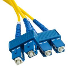 Singlemode Duplex Fiber Optic 9/125 Fiber Optic Cable, SC / SC, Singlemode, Duplex, 9/125, 30 meter (98.4ft)