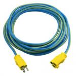 Outdoor Power Extension Cord, SJTW 14 AWG * 3C / 15 Amp, ETL Certified,  25 ft, Blue