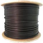 6 Fiber Indoor/Outdoor Fiber Optic Cable, Multimode 62.5/125, Plenum Rated, Black, Spool, 1000ft