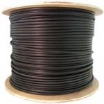 12 Fiber Indoor/Outdoor Fiber Optic Cable, Multimode 62.5/125, Plenum Rated, Black, Spool, 1000ft