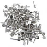 Hex Nut Jack Screw, 100 Pieces, # 4 - 40, 17.08mm