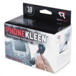 PhoneKleen Wet Wipes, antibacterial, Cloth, 5 x 5, 18/Box