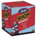 Scott Shop Towels, POP-UP Box, Blue, 10 x 12, 200/Box