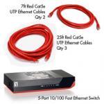 Cat5e 10/100 Home/Office Networking Starter Kit (Red)